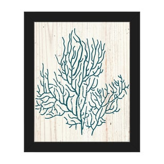 Coral Silhouette Framed Canvas Wall Art