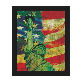 American Lady Multicolored Canvas Framed Wall Art