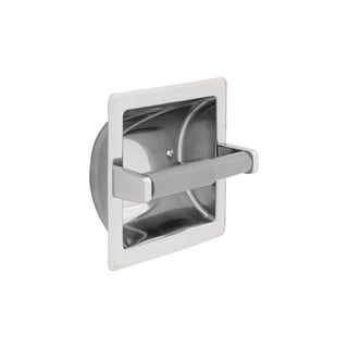 Delta Recessed Toilet Paper Holder with Roller in Bright Stainless Steel 45070-ST