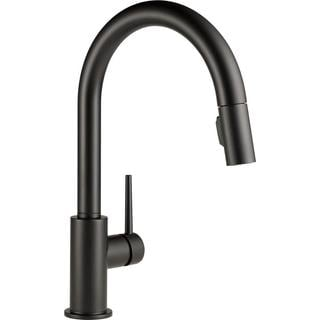 Delta Trinsic Single Handle Pull Down Kitchen Faucet 9159 BL DST Matte Black