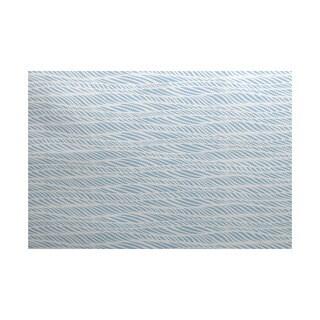 3 x 5-ft, Rolling Waves, Geometric Print Indoor/Outdoor Rug