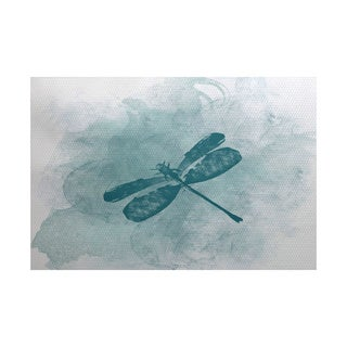 3 x 5-ft, Dragonfly Summer, Animal Print Indoor/Outdoor Rug
