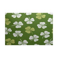 3 x 5-ft, Lucky, Holiday Floral Print Indoor/Outdoor Rug