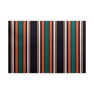 3 x 5-ft, Multi-Stripe, Stripe Print Indoor/Outdoor Rug