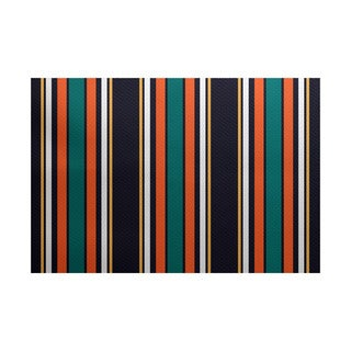 3 x 5-ft, Multi-Stripe, Stripe Print Indoor/Outdoor Rug