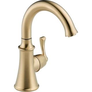 Delta Traditional Single-Handle Kitchen Faucet in Champagne Bronze 1914-CZ-DST