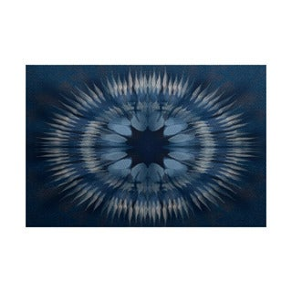 3 x 5-ft, Shibori Burst, Geometric Print Indoor/Outdoor Rug