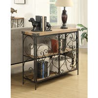 Convenience Concepts Sedona Decorative Wood Iron Console Table