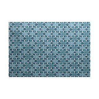 Water Mosaic Geometric Print Indoor/ Outdoor Rug (3' x 5')