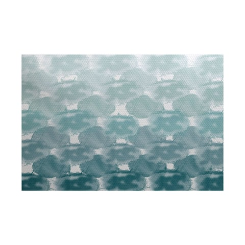 3 x 5-ft, Beach Clouds, Geometric Print Indoor/Outdoor Rug
