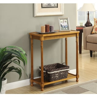 Convenience Concepts American Heritage Carrington Walnut Wood Hall Table