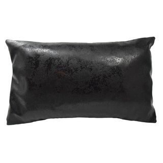 Jorge Black Polyester Throw Pillow