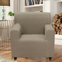 Smart Seam Form-fitting Stretch Chair Slipcover - N/A