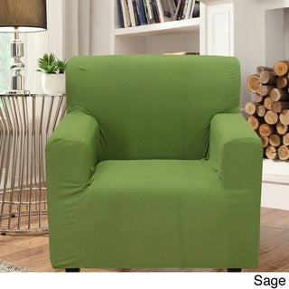 Smart Seam Form-fitting Stretch Chair Slipcover (Green)