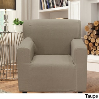 Smart Seam Form-fitting Stretch Chair Slipcover (Tan)