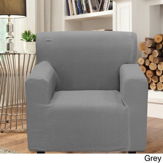 Smart Seam Form-fitting Stretch Chair Slipcover (Grey)