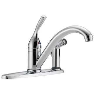 Delta Core 100/300/400 Series Single Handle Kitchen Faucet with Integral Spray 300-DST Chrome