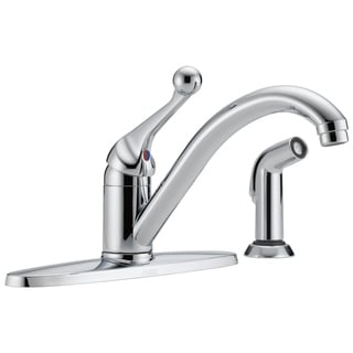 Delta Classic Single-Handle Side Sprayer Kitchen Faucet in Chrome 400-BH-DST