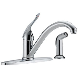 Delta Classic Single-Handle Side Sprayer Kitchen Faucet in Chrome 400LF-HDF