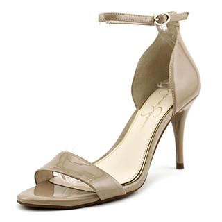 Jessica Simpson Women's 'Mirena' Tan Patent Leather Medium-heel Pump Dress Shoes