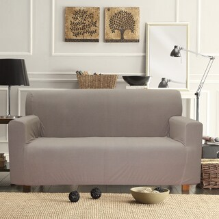 Polyester Form Fitting Smart Seam Stretch Loveseat Slipcover