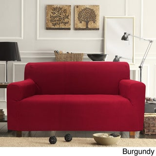 Form Fitting Smart Seam Stretch Loveseat Slipcover
