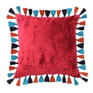 Blissliving Home Macarena Cotton 18x18 Throw Pillow