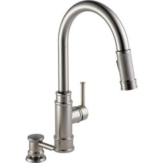 Delta Allentown Single-Handle Pull-Down Sprayer Kitchen Faucet w/ Soap in SpotShield Stainless 19935-SPSD-DST