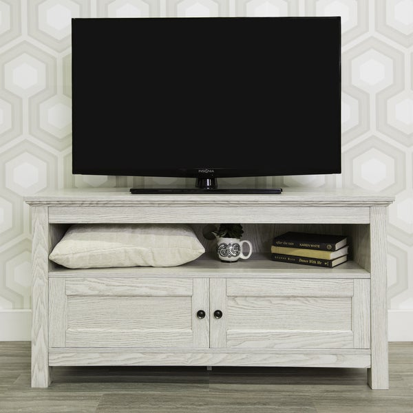 Shop 44 Quot White Modern Farmhouse Storage Tv Stand Free