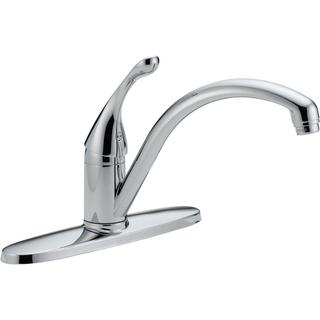 Delta Collins Single-Handle Kitchen Faucet in Chrome w/ Water-Efficient Aerator 140-WE-DST