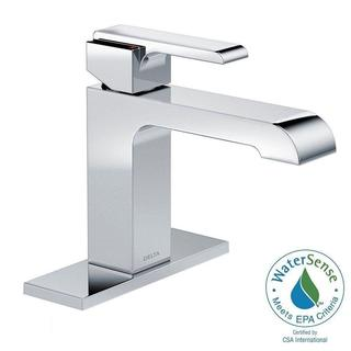 Delta Ara Single Hole 1-Handle Bathroom Faucet in Chrome - Less Pop-Up 567LF-LPU