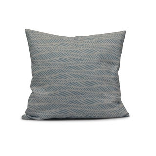 E by Design Polyester 18-inch Rolling Waves Geometric-print Accent Pillow