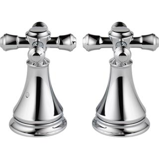 Delta Pair of Cassidy Metal Cross Handles for Roman Tub Faucet in Chrome H695