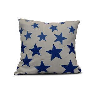E by Design Just Stars Geometric Print Polyester 18-inch Pillow