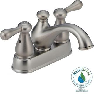 Delta Leland 4 in. 2-Handle High-Arc Bathroom Faucet in Stainless 2578LFSS-278SS