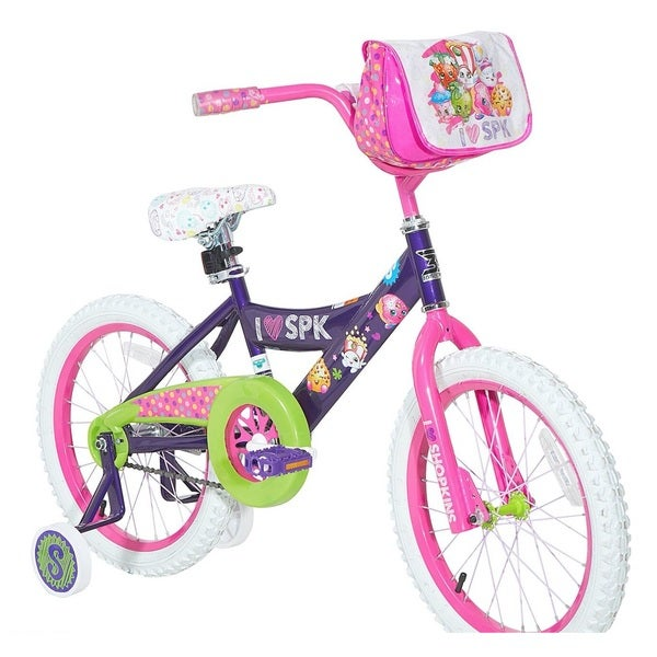 Dynacraft Shopkins Pink and Purple 18-inch Bike