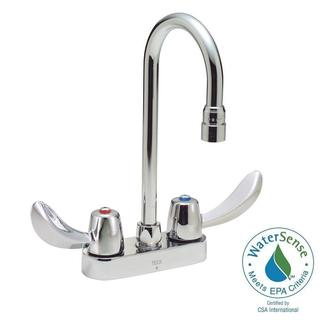 Delta Commercial 4 in. Centerset 2-Handle High-Arc Bathroom Faucet in Chrome 27C4832