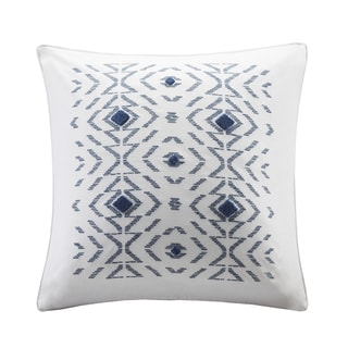 INK+IVY Cybil White Embroidered Decorative Pillow