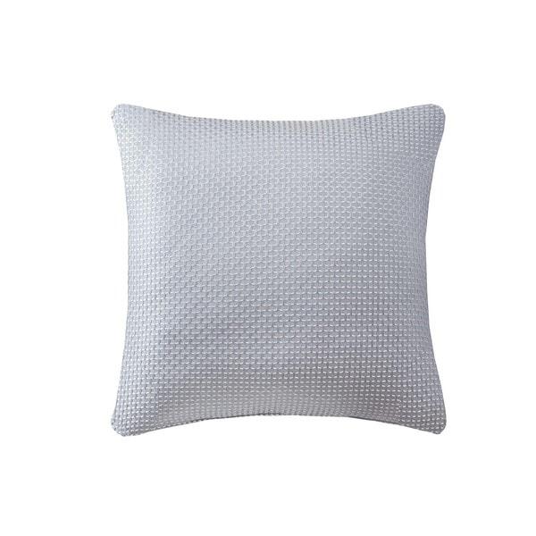 Madison Park Cassie Texture Jacquard Square Pillow Pair 3-Color Option