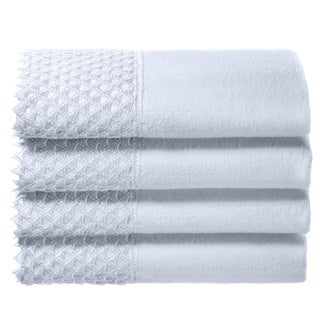 Creative Scents White Embellished Fingertip Towels (set of 4)