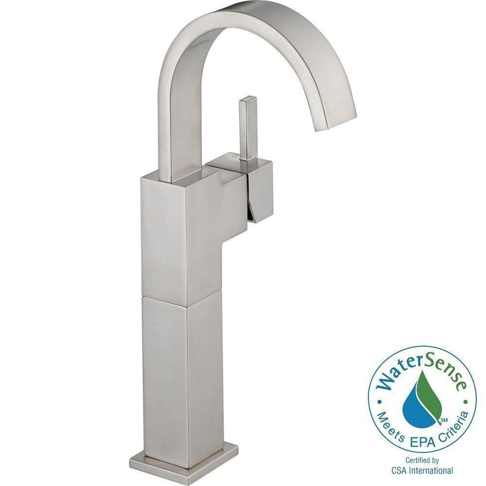 Delta Vero Single Handle Vessel Lavatory Faucet 753LF-SS Stainless (Bathroom Faucets)