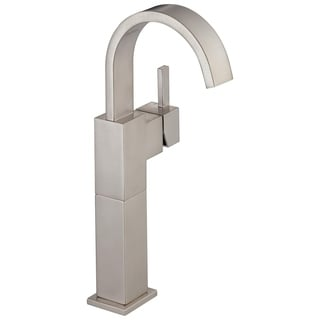 Delta Vero Single Hole 1-Handle Vessel Sink Bathroom Faucet in Stainless 753LF-SS