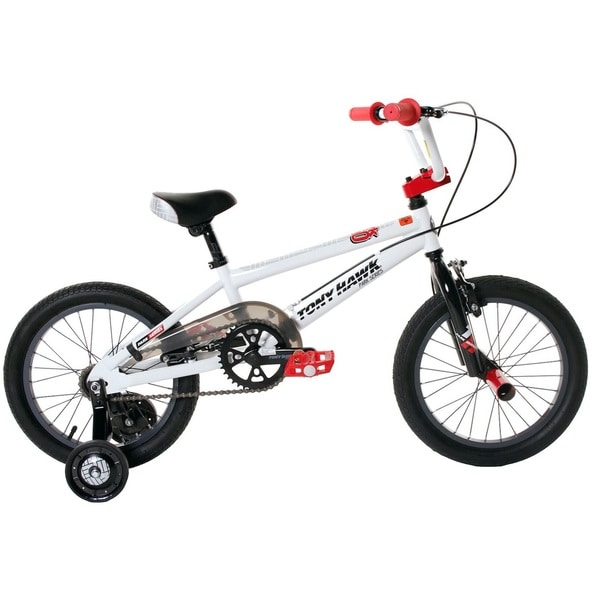 Tony Hawk BMX Boys Black/White 16-inch Bike