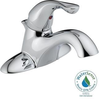 Delta Classic Chrome Single Handle Metal Pop-up Centerset Lavatory Faucet