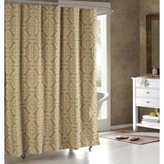 Creative Home Ideas Adisson Printed Cotton Blend 72x72 Soft Fabric Shower Curtain