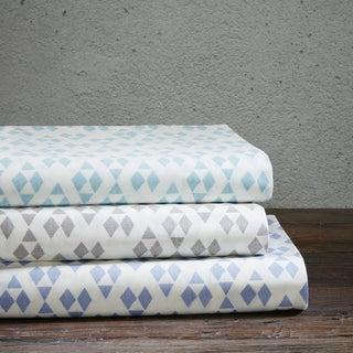 Urban Habitat Diamond Cotton Percale Printed Sheet Set 3-Color Option