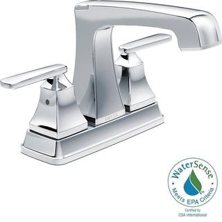 Delta Ashlyn 4 in. Centerset 2-Handle High-Arc Bathroom Faucet in Chrome 2564-MPU-DST