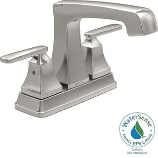 Delta Ashlyn 4 in. Centerset 2-Handle High-Arc Bathroom Faucet in Stainless 2564-SSMPU-DST