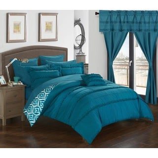 Chic Home 20-Piece Kyrie Room-In-A-Bag Blue Comforter Set