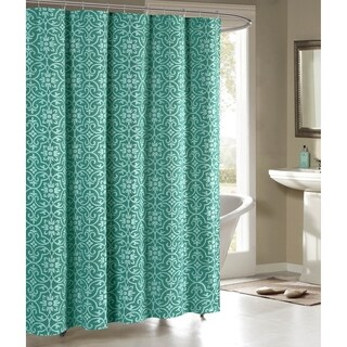Creative Home Ideas Allure Printed Cotton Blend 72 in. x 72 in. Soft Fabric Shower Curtain (4 options available)